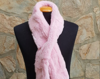 approx 5 foot long Many plain colours and patterns Faux Fur Narrow Scarf