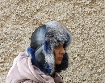 c91a7b9ed Real fur trapper hat | Etsy