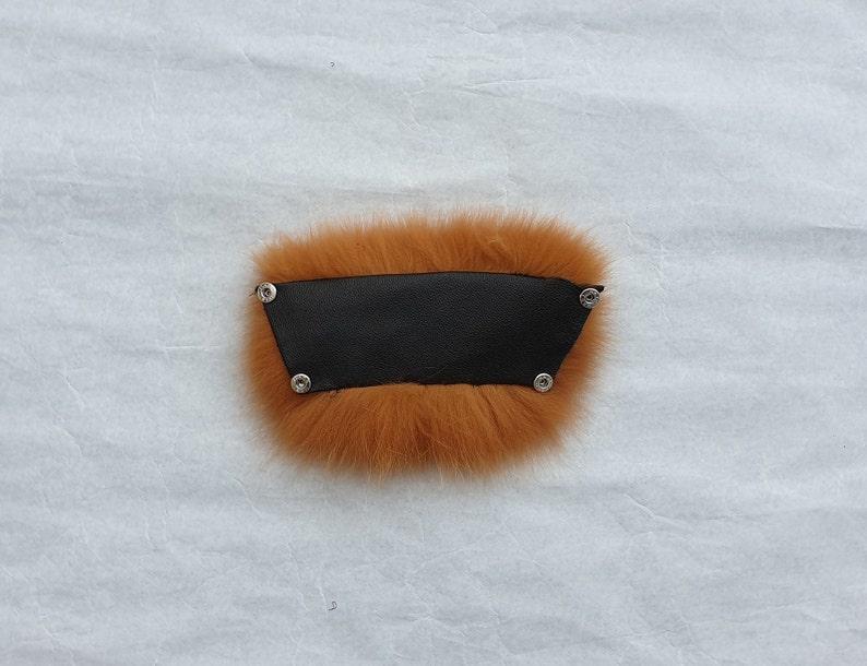 fluffy fur shoes,fur flip flop,Orange fox,Fur shoes,women shoes,Orange Fox Fur Real Fox Fur Slides