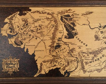 "Framework made with PIROGRAFO ""map Middle Earth"""
