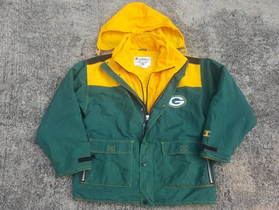 90s Green Bay PACKERS Jacket by CHAMPION Official NFL Vintage  92aa6d33f