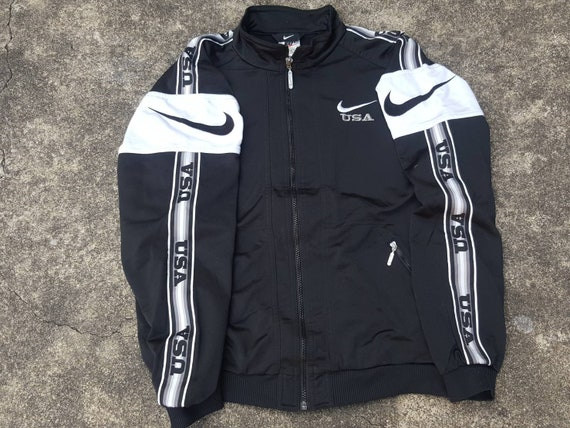 exclusive deals the sale of shoes reputable site Veste vintage NIKE Track Jacket USA Black 90s Sportswear