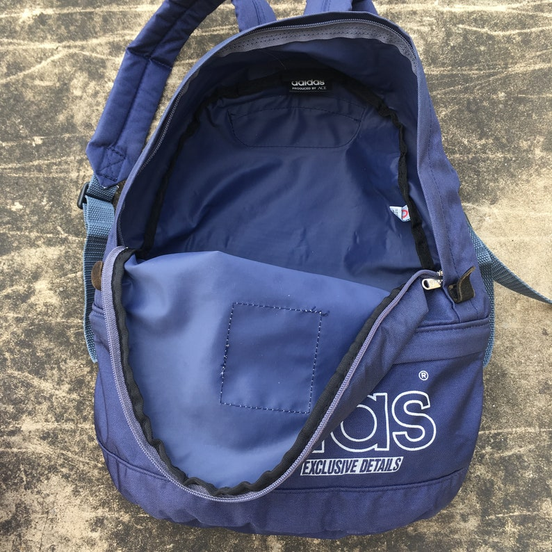 845cd62d8379 Vintage ADIDAS produced by ACE Backpack Small Size Purple