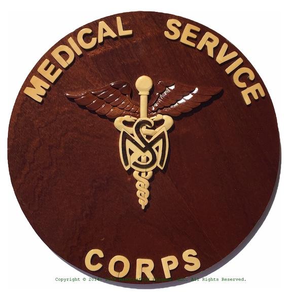 army medical service corps emblem woodart plaque
