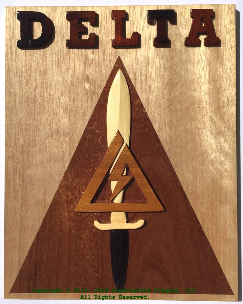 DELTA FORCE EMBLEM - WoodArt Plaque