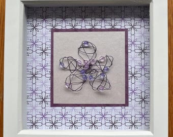 Purple Wire Flower Art