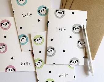 with Gift Box Set of 5 Rainbow Hello Notecards