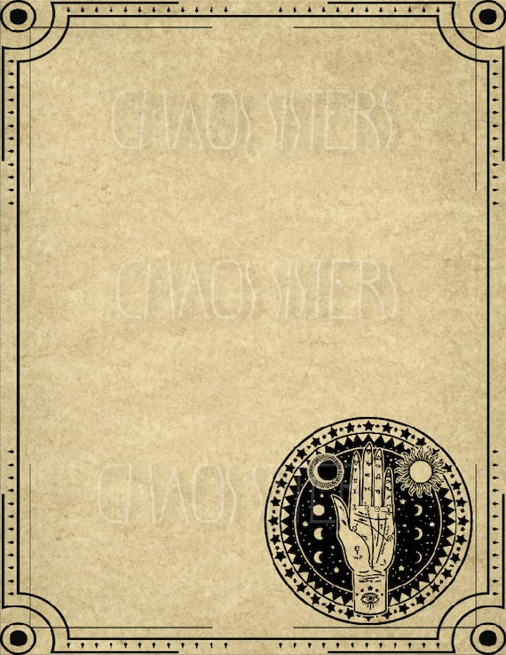image about Printable Book Shadows Pages referred to as Blank E book of Shadows Webpages, Printable Magic Guide Website page, Witch Magazine Paper, Witchcraft, Wicca, Grimoire Web pages, Electronic Obtain