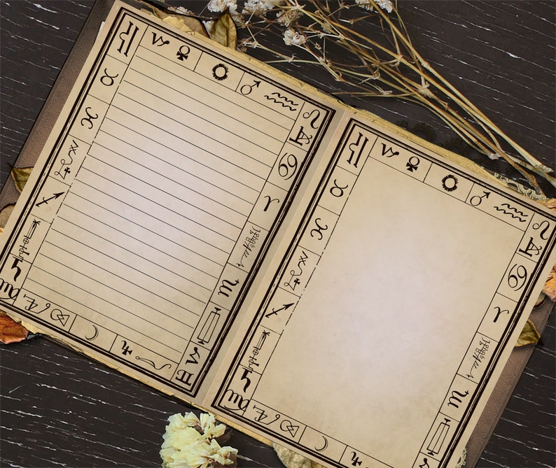 Blank Printable Book of Shadows Page, Spell Book, Scrapbook DIY Journal,  Spells, Magic, Witchcraft, Wicca, Grimoire Pages, Digital Download