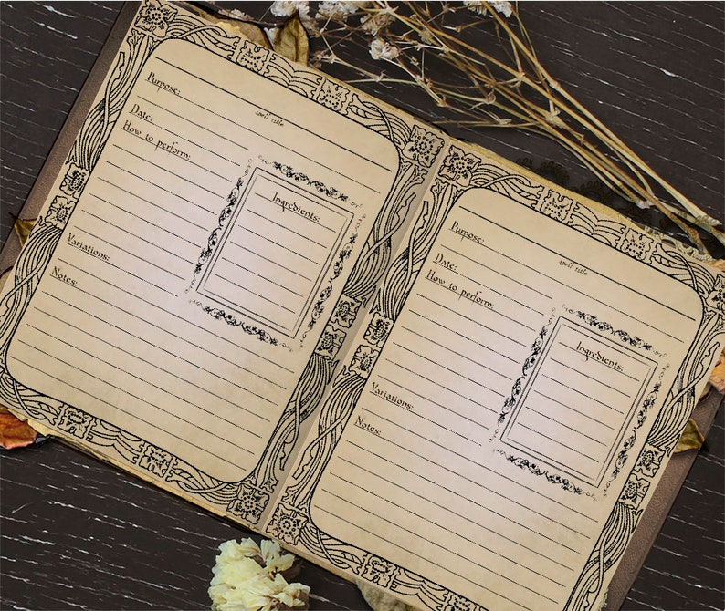 photo regarding Printable Spell Book Pages identify Printable Guide of Shadows Spell Template Site, Electronic Obtain, Spell Card, Magic, Witchcraft, Wicca, Grimoire Internet pages, Pagan, Witch Guide
