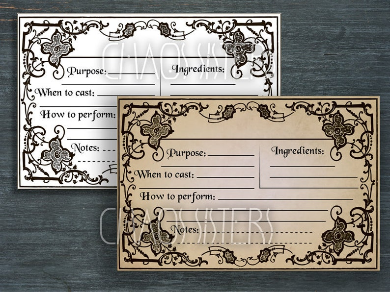 photograph regarding Printable Spell Templates identify Printable Spell Playing cards 6 x 4 inches , Witchcraft, Wicca, Potion Labels, Magick, Apothecary, Electronic Collage Sheets, Spell Templates