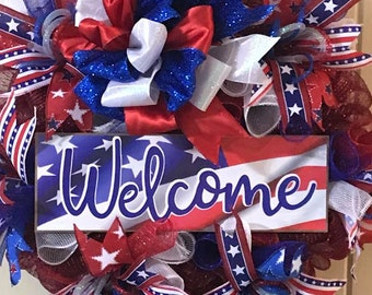 Patriotic Welcome Wreath