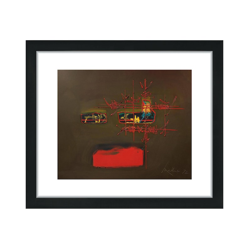 Wall Decor Georges Mathieu Decorative Art 15x18in Framed Leather Art Home Interior Picture Bonissan 11x14in Opening