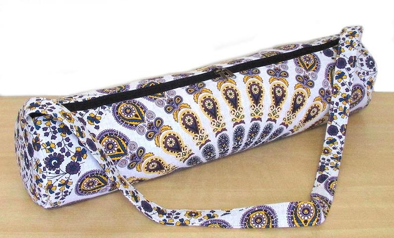 Adjustable Shoulder Strap Yoga Bag Handmade in India Plus Outer and Inner Pockets.