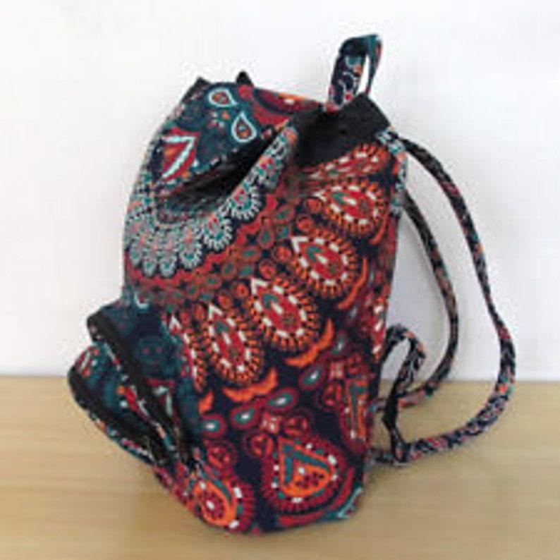 Backpack Indian Cotton Mandala Unisex Multipurpose Bags With Adjustable Strap