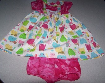 24 month Baby girls cat dress with bloomers