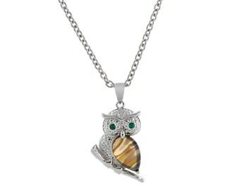 Barn Owl - Necklace - Paua Shell (UK)