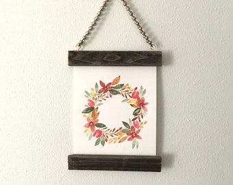 Fall Wreath - Original Watercolor Painting (unframed)