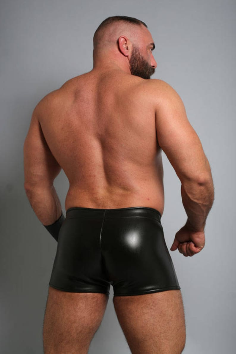 Neoprene Pouch Front Short with Front Zipper with Fly