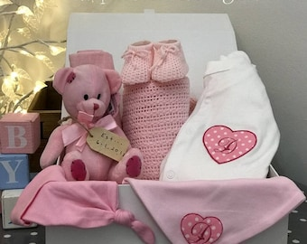 Luxury personalised baby keepsake/memory box full of goodies