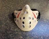 Friday The 13th Part 3 Style Jason Voorhees Half Hockey Protective / Dust Face Mask W/ Pocket + 2 Disposable Filters