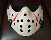 Friday The 13th Part 3 or NES Style Jason Voorhees Half Hockey Protective / Dust Face Mask W/ Pocket + 2 Disposable Filters