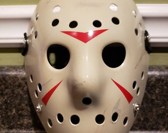 Replica Friday The 13th Part 3 Richard Brooker Jason Voorhees Hockey Mask  Cosplay 9ab548a53717