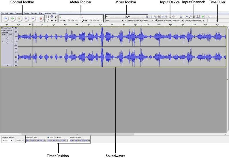 Audacity Pro Audio Music Editing and Recording Software CD Windows/Mac