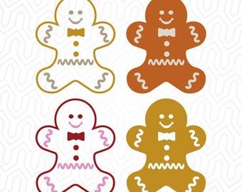 Ginger Bread Man, Vintage, Retro, Cutout, Vector, Cricut, Silhouette, die cut, Print, Decal, svg / dxf / png / pdf , Digital Download