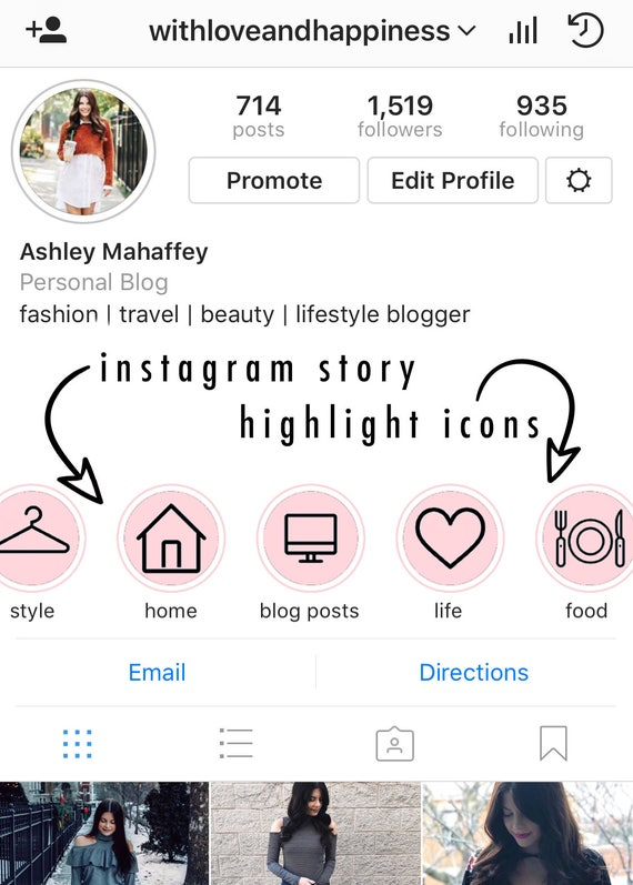 Iconos para instagram stories