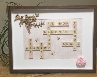 Personalised Scrabble Art Frame