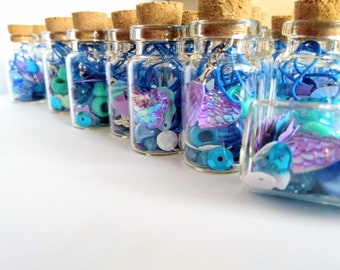 Mermaid Magic! Set of 10- Mermaid Favours- Make Your Own Bracelet- Party Gift- Magical