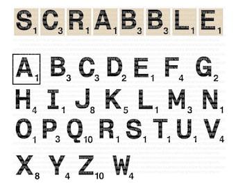 Scrabble letters SVG scrabble tile svg silhouette file diy scrabble letters Scrabble SVG alphabet  silhouette cut file home decor wall art