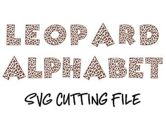 Leopard Print Alphabet Svg Leopard Print Font Svg Leopard Svg Animal Print Letters Leopard Monogram Alphabet Silhouette Cricut Cutting File 25128 Free Svg Fonts High Quality For Your Designs