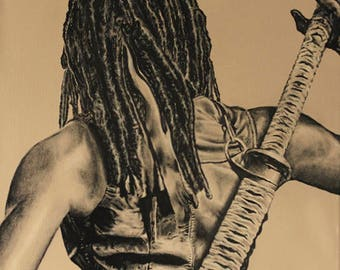 The Walking Dead Michonne Painting 4 of 4