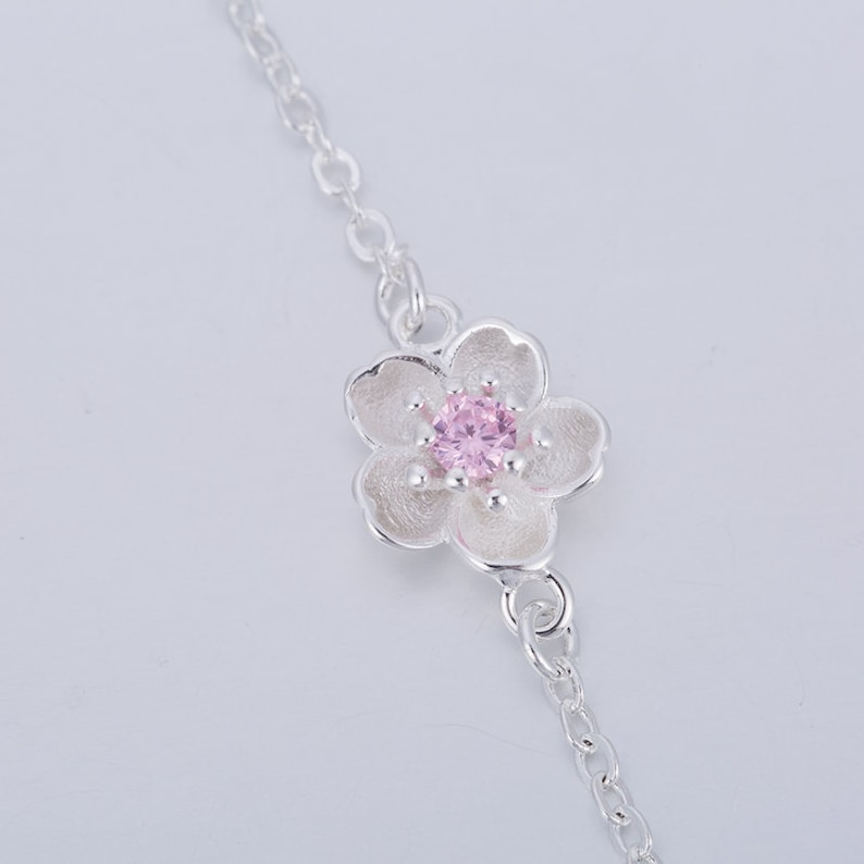 Armchain cherry blossom silver-pink