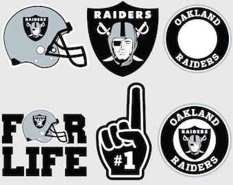 Oakland Raiders  SVG PNG DXF  File football svg files, cricut, silhouette cut file  Vector Cut File
