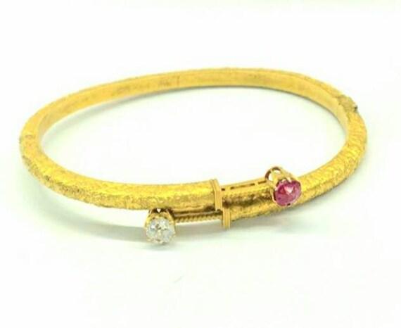 Antique Russian gold cuff bracelet