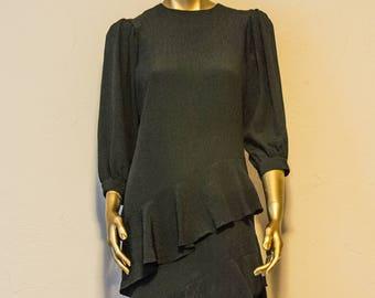 Black Vintage layered dress