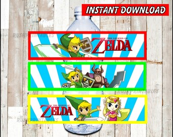 The Legend Of Zelda Food Labels Printable Zelda Food Tent Etsy