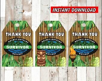 instant download Survivor viewing party Survivor trivia board game gift Survivor tv show gift The Survivor tv show game printable game