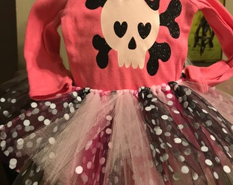 Skull Onesie and Tutu Set