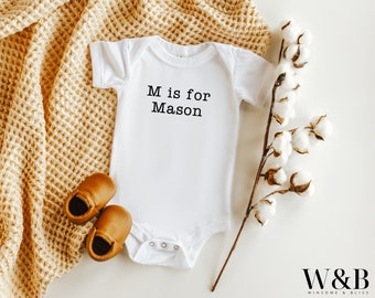 1st Gifts Announcement Baby One-Piece Little Mr Perfect Shower First Birthday Gift for Infant Newborn Clothing Personalized One-Piece