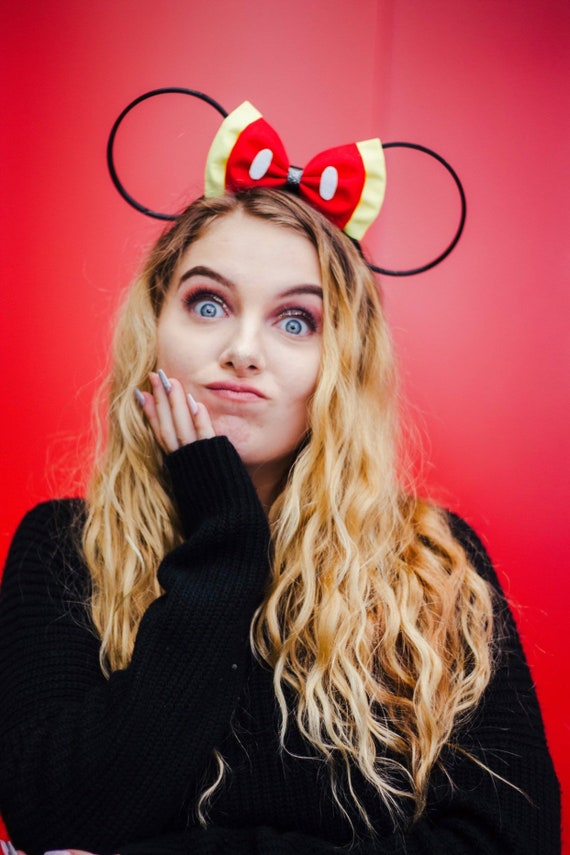 Disney Classic Mickey Mouse Inspired 3 D Minnie Mouse Ear / Mickey Ears / Nerdy / Geeky / Disneyworld / Disneyland by Etsy