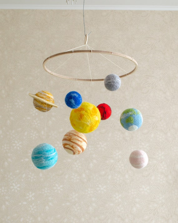 Set of Solar System Planets as a space nursery decor Labor day