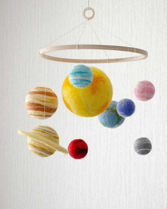 Planets Mobile Bebe As A Space Decor For Space Themed Nursery Labor Day