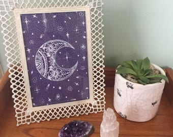 Handmade, Moon, Drawing, Freehand, Art, Picture, Celestial, Space, Sky
