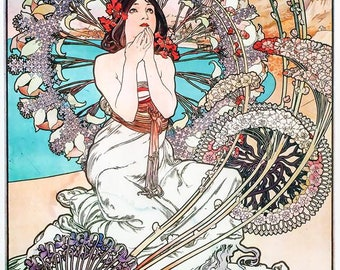 Manaco Monte Carlo Art Nouveau Painting Poster Art Print