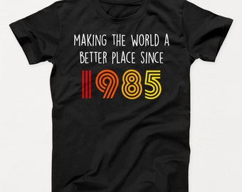 34th Birthday Shirt Gift 34 Years Old Bday Funny 1985