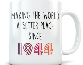Funny 75th Birthday Gift Mug 75 Year Old Gifts Happy Bday 1944
